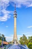 Brücke zum Turm Lizenzfreies Stockfoto