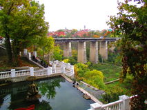 Brücke zur alten Stadt, Kamenets-Podolskiy, Ukraine Stockfoto