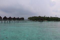 Brücke zur Insel stockbild