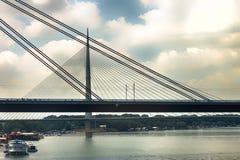 Brücke zwei in Belgrad Lizenzfreie Stockbilder