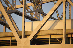 Brücke zwischen Indiana und Kentucky Lizenzfreie Stockfotos
