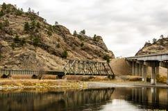 Brücken über dem Missouri Lizenzfreies Stockbild