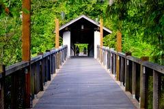 Brücken, das miteinander anschließt Stockbild