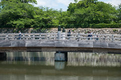 Brücken-Eingang von Himaji-Schloss Stockfotos