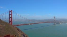 Brücken-Golden Gate zur San Francisco-Tageszeit stock footage