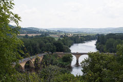 Brücken im Dordogne Lizenzfreies Stockbild