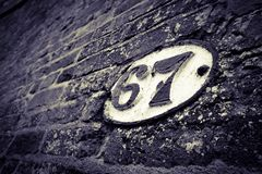 Brücken-Markierung 67 Lizenzfreie Stockfotos