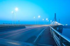 Brücken-Nacht Lizenzfreie Stockfotografie