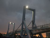 Brücken-Nachtansicht Leça DA Palmeira neue Lizenzfreie Stockfotografie