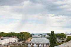 Brücken Pont De Verdun verärgert herein, Frankreich lizenzfreie stockfotos