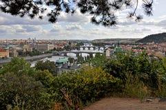 Brücken in Prag Lizenzfreies Stockfoto