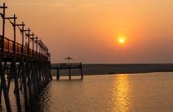 Brücken-Sonnenuntergang Stockfotografie