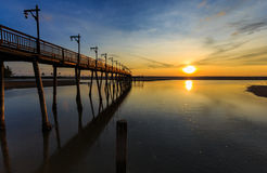 Brücken-Sonnenuntergang Lizenzfreie Stockfotografie