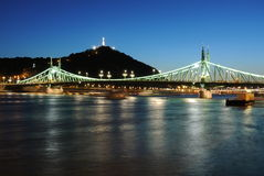 Brücken von Budapest Stockbild