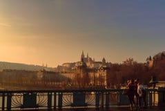 Brücken von Prag, über der Moldau Stockfotografie
