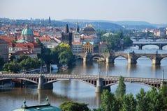 Brücken von Prag Lizenzfreies Stockfoto