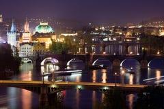 Brücken von Prag Stockfotografie