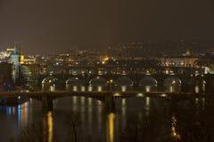 Brücken von Prag, die Tschechoslowakei Lizenzfreie Stockfotografie