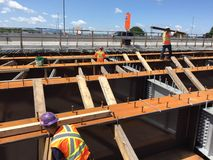 Brückenarbeitsstelle Lizenzfreie Stockfotos