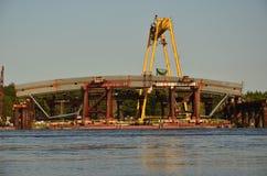 Brückenbau lizenzfreie stockfotos