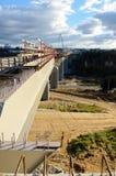 Brückenbau Stockfoto