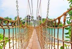 Brückenbrücke auf Sentosa-Insel stockbild