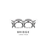Brückenentwurfs-Logovektor Lizenzfreies Stockfoto