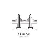 Brückenentwurfs-Logovektor Lizenzfreie Stockbilder