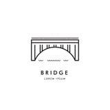 Brückenentwurfs-Logovektor Lizenzfreie Stockfotos