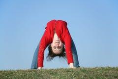 Brückengymnastik girl2 Stockbilder