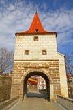 Brückenkontrollturm in Stribro Lizenzfreie Stockfotografie
