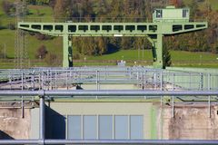 Brückenkranaufbau Stockfotografie