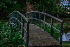 Brückenpark-Hintergrundhochzeitstag Stockfotos