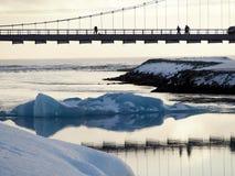Brückenschattenbild Lizenzfreie Stockfotos