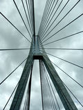 Brückenstützseilzüge Stockfoto