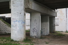 Brückenunterstützung Stockfoto