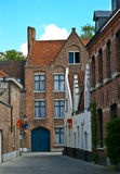Brügge-alte Straße Lizenzfreies Stockbild