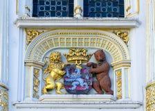 BRÜGGE, BELGIEN EUROPA - 25. SEPTEMBER: Brügge-Wappen auf t Lizenzfreies Stockbild