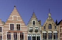 Brügge-Häuser Lizenzfreies Stockbild