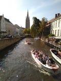 Brügge-Kanal Stockfotos