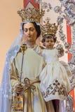 Brügge - Madonna der Abzahlung mit dem Kind von 17 cent in St- Gileskirche (Sint Gilliskerk) Stockbilder