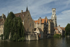 Brügge-Panorama Lizenzfreies Stockbild