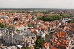 Brügge-Panorama lizenzfreies stockfoto