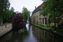 Brügge-` s Kanal Stockfoto