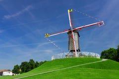 Brügge-Windmühle, Belgien Stockbilder