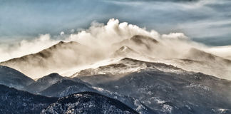 Brüllenberge, felsige Gebirgsnationalpark lizenzfreies stockfoto