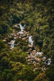 Brüllender Billy Falls mit grünem Laub lizenzfreie stockbilder