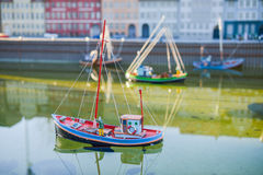 BRÜSSEL, BELGIEN - 5. Dezember 2016 - Mini Europe-Miniaturen parken in Brüssel Lizenzfreies Stockbild