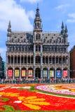 Brüssel, Belgien Maison du Roi während des Blumen-Teppich-Festivals Lizenzfreies Stockfoto