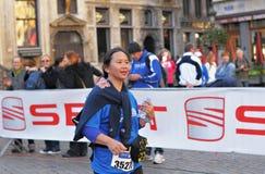 Öffentlichkeitswettbewerb des Halbmarathons 2012 Stockfotografie